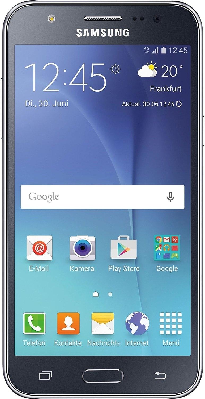 samsung galaxy j5 schwarz 8gb lte android 5 smartphone. Black Bedroom Furniture Sets. Home Design Ideas